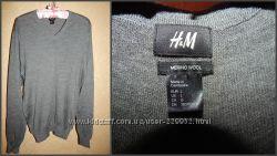 Теплый шерстяной джемпер размер L фирма H&M мягкий и приятный к телу