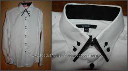 Стильная белоснежная рубашка размер М фирма George состояние новой