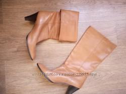 Шикарные кожаные сапоги деми размер 38 фирма Manfield