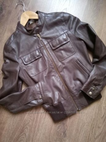 Стильная куртка натуральная кожа размер С