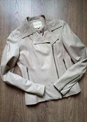 Reiss стильная фирменная кожаная куртка косуху размер хс-с
