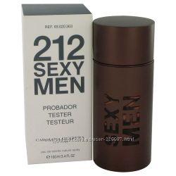 Carolina Herrera 212 Sexy Men туалетная вода оригинал тестер 100 мл