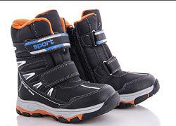 Зимние термо ботинки сноубутсы дутики сапоги на мальчика