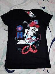 Модная качественная футболка Дисней на 5-10 лет с Минни Маус, Minney Mouse.