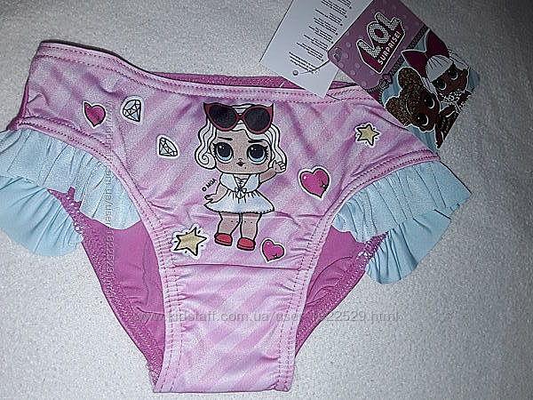 Плавки ЛОЛ на девочку 2-6 лет, качественные плавочки, кукла LOL.