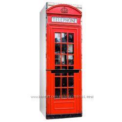 Наклейка на холодильник с английской красной Телефонная будка