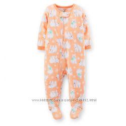 Carters флисовые человечки-пижамы больших размеров