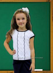 Блуза в школу с коротким рукавом разные модели