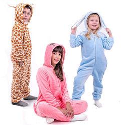 Кигуруми для детей и подростков заяц, жираф, котик