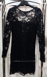 Черное коктейльное платье для худенькой девочки-подростка