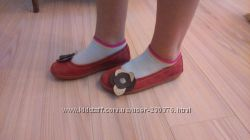 Красные кожаные туфельки, Kickers, р. 33