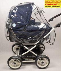 Дождевик на коляску с окошком на молнии Kinder Comfort