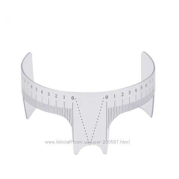 Линейка для коррекции идеальных симметричных бровей