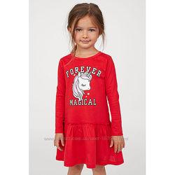 Платье  с единорогом H&M  для девочки