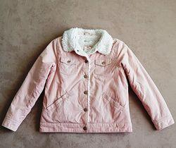 Стильная вельветовая куртка Н&М, р.128, в отличном состоянии
