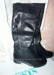 0c77b171c Красивые новые кожаные сапоги, еврозима, цигейка. Супер цена. Снизила цену.