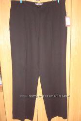 Брюки женские черные, струящаяся ткань, р-р52