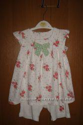 Летнее  платье - ромпер George для девочки 9-12мес.