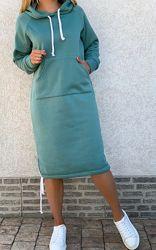 Спортивное утепленное платье туника. Разные цвета. Доставка 1-3 дня.