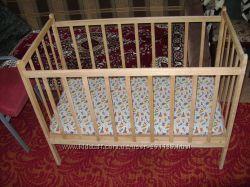 Продам деревянную кроватку с матрасом для вашего малыша