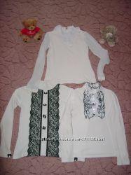 Продам красивые белые блузки на вашу принцессу 140-164см