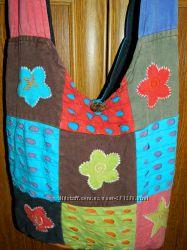 Яркая разноцветная сумка через плечо