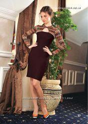 Стильное осеннее платье V&V для офиса, вискоза - 44 р.