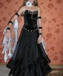 Танцевальное бальное платье