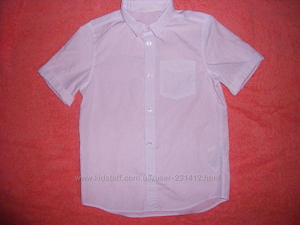 H&M Белая рубашка Easy Iron легкая глажка на р.140 см