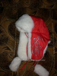 Шапка-ушанка для девочки размер 50 на 2-3 года