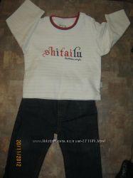 Модные клевые джинсики , реглан, футболка