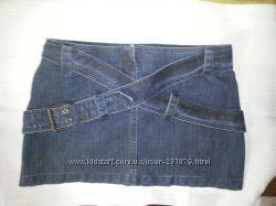 Джинсовая короткая юбка, 40р. , Турция