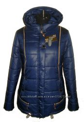 Стильна молодіжна куртка пуховик приталеного силуету, холлофайбер