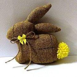 Зайчик текстильный, подарок, украшение праздника