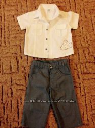 Костюм для мальчика Cool Club, 68 размер рубашка тениска брюки