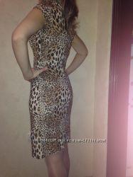 Стильное платье леопардовой расцветки