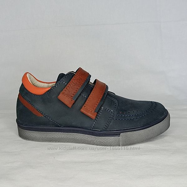 Кожаные кроссовки в школу слипоны, туфли Topsider для мальчика на липучках
