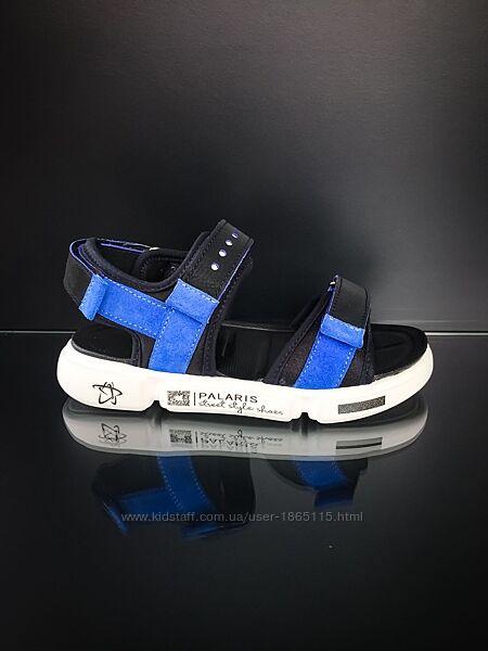 Спортивные кожаные босоножки для мальчика сандалии