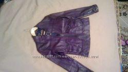 кожанная куртка, фиолетовый