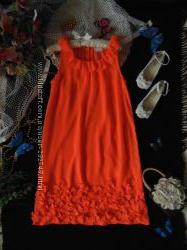 11лет. Изысканное нарядное шифоновое платье Next. мега выбор обуви и одежды