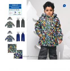 Термокомплект Машинки курткаполукомбинезон для мальчика Z103-17 BabyLi