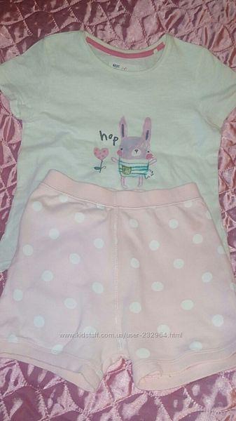 Фирменная мягусенькая пижама для девочки от Некст