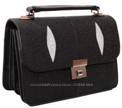 Мужские сумки барсетки, портфели из кожи ската.