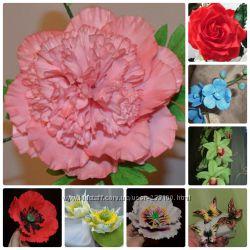 Мастер-класс, курсы по сахарной флористикецветы из мастики