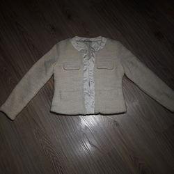 Кремовый пиджак Artigli для девочки 11 12 лет