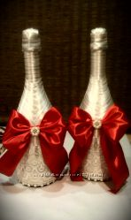 Свадебное шампанское и аксессуары