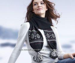 Теплый шарф шерсть TCM Tchibo