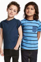 Красивый комплект футболок H&M 110-116, 122-128, 134-140