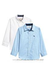 Качественные рубашки H&M 8-9лет рост 134