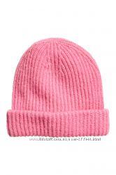 Распродажа стильная мохеровая шапочка с шерстью H&M
